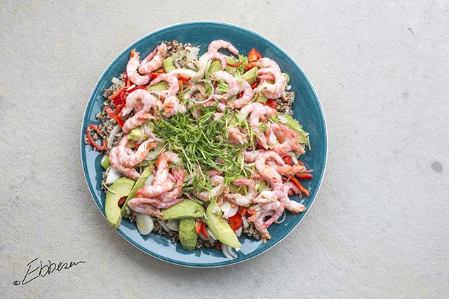 Quinoa Salat Med Rejer Og Avocado Have Til Bord