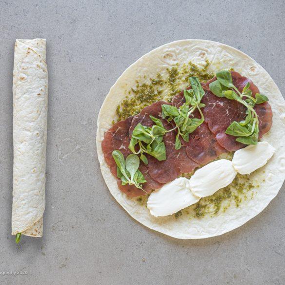 Frokost wrap med bresaola skinke og pesto | Have til Bord