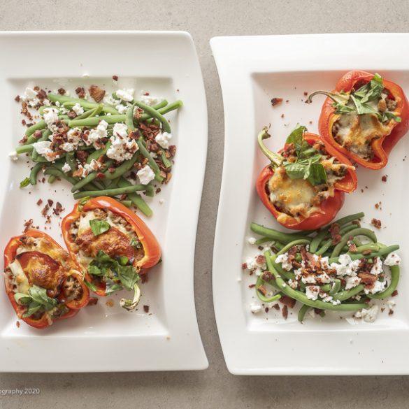 Fyldte peberfrugter med bønnesalat | Have til Bord