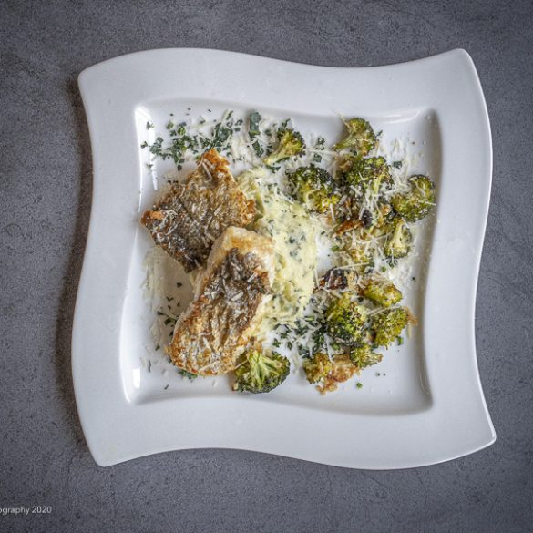 Lynstegt kulmule med ovnbagt broccoli | Have til Bord